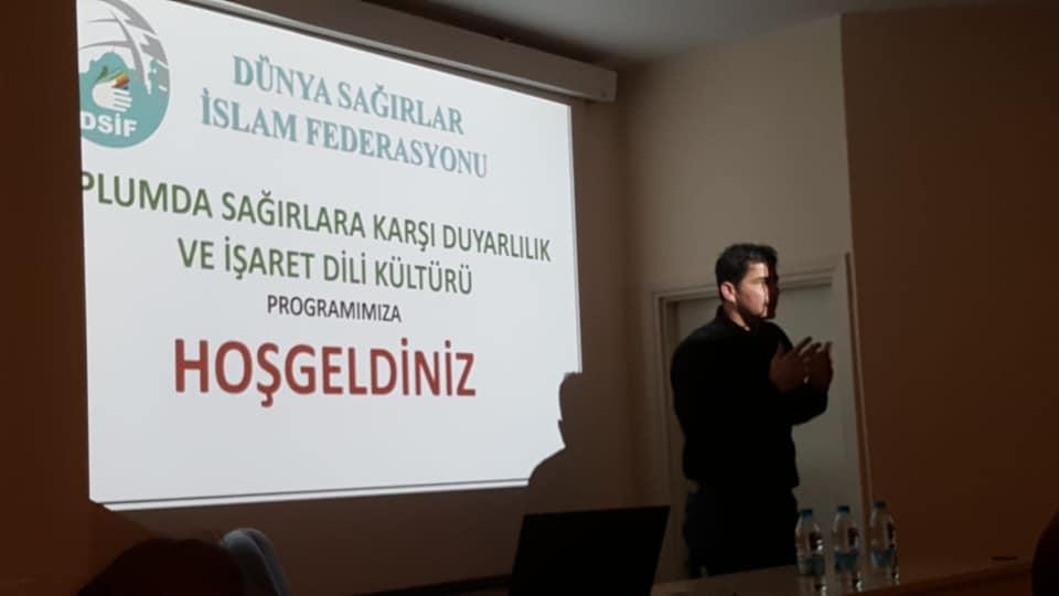 """Eskişehir'de """"Toplumda Sağırlar Karşı Duyarlılık ve İşaret Dili Kültürü"""" Konulu Semineri icra etti"""