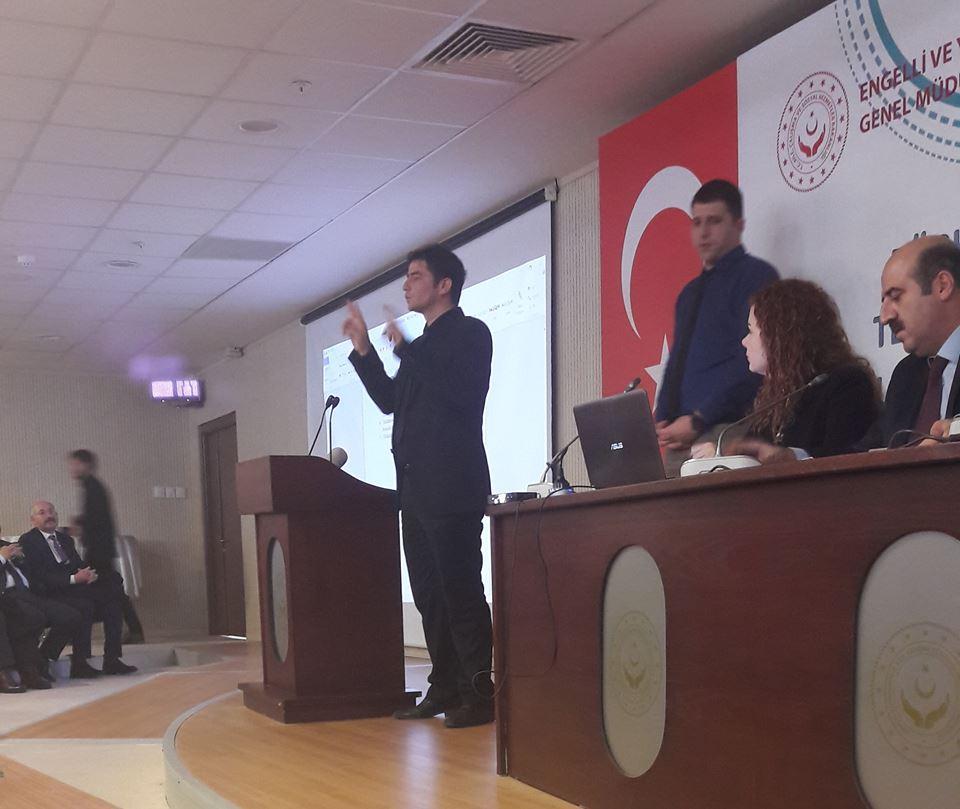 DSİF Başkanı Muhammed İkbal YILDIZ Aile, Çalışma ve Sosyal Hizmetleri Bakanlığının Türk işaret dili Tercümanın Sorunları ve Çözüm önerileri Programına katıldı.